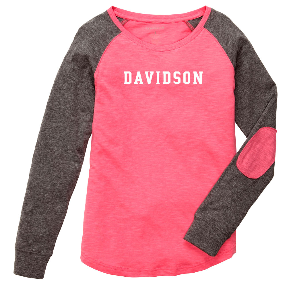 Image For YOUTH LONG SLEEVE T-SHIRT - CORAL/GRANITE