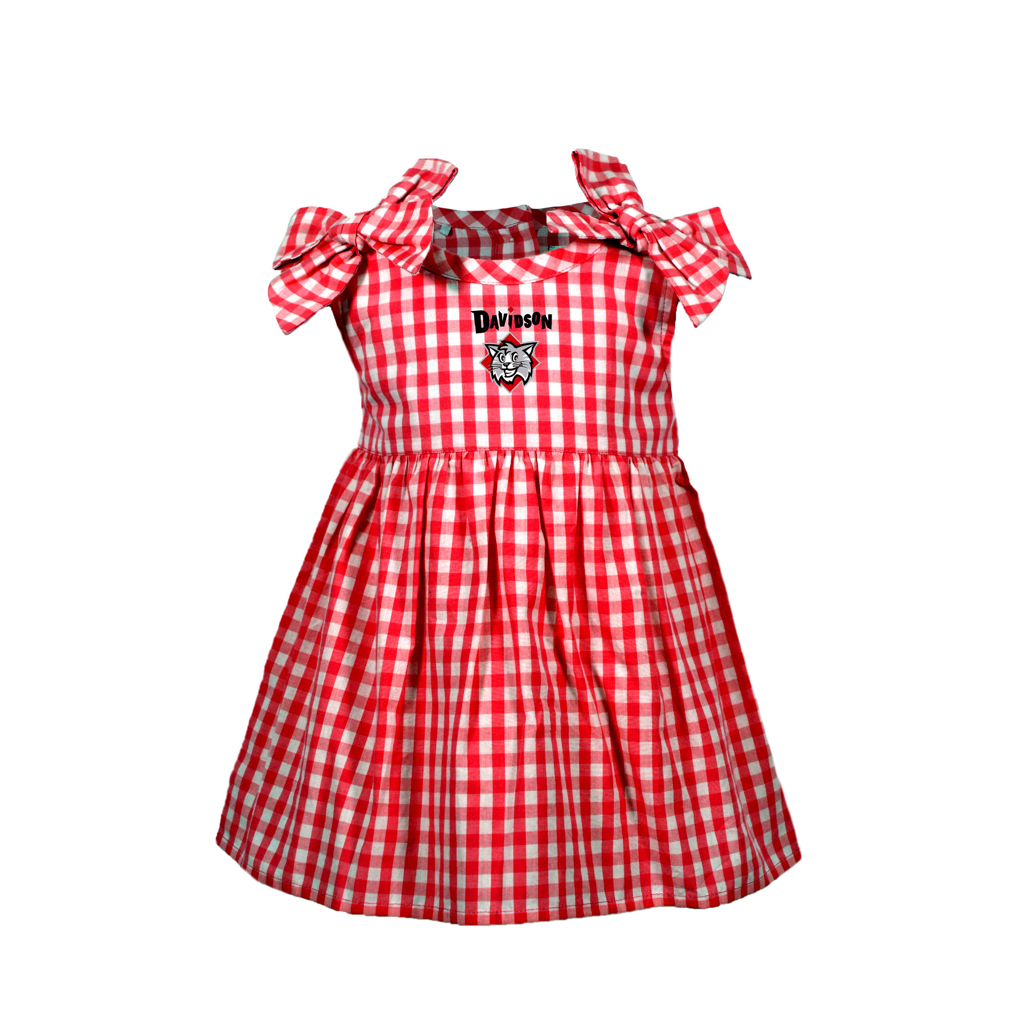 Image For Infant Girls Gingham Dress - Red