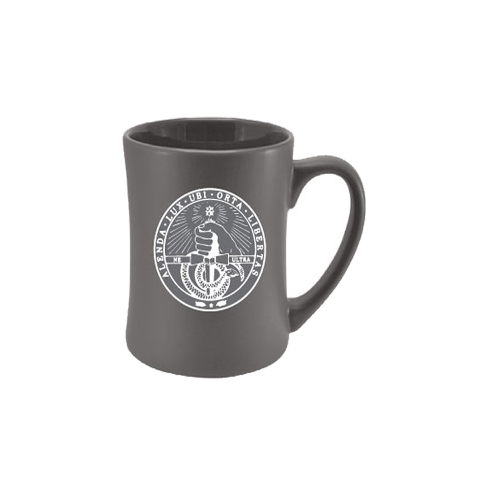 Image For Mug - Etched Grey - Davidson College Seal