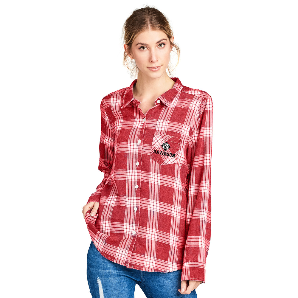 Image For WOMEN'S FLANNEL - COLLEGE RED