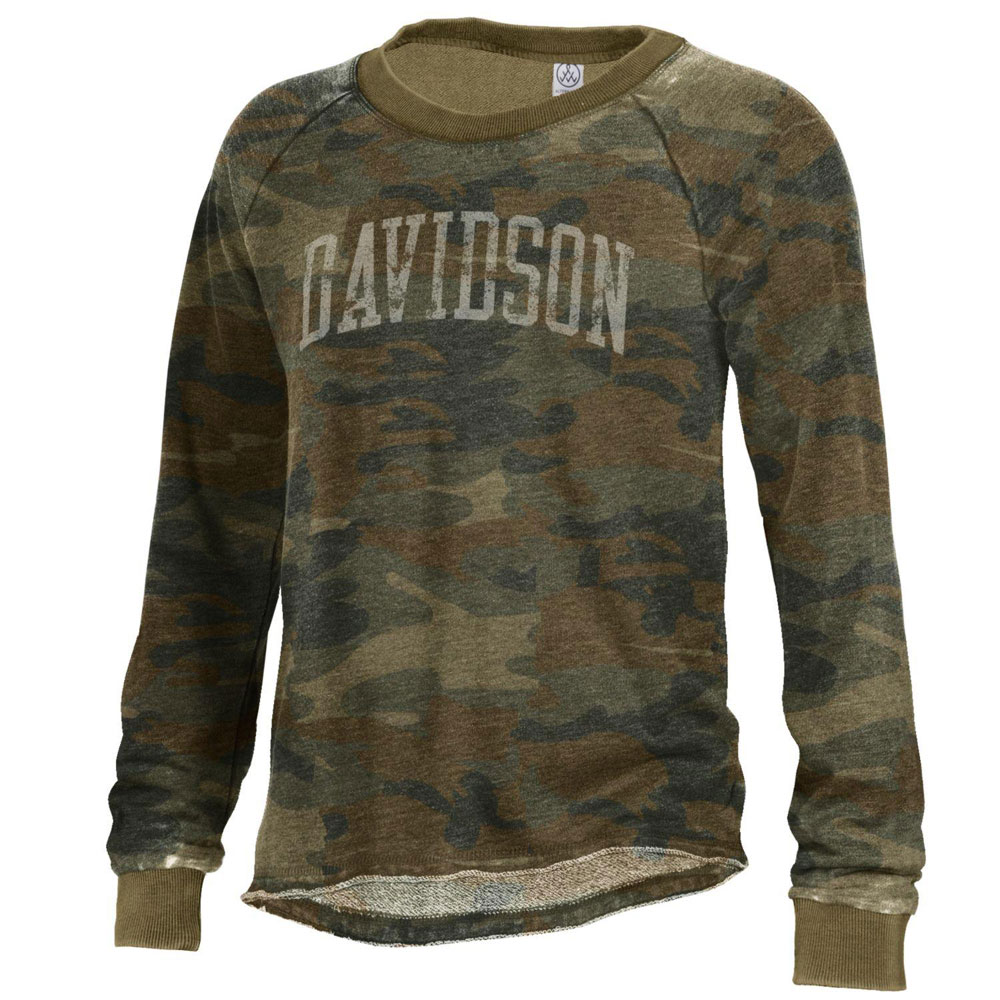 Image For Women's Burnout French Terry Crew - Camo
