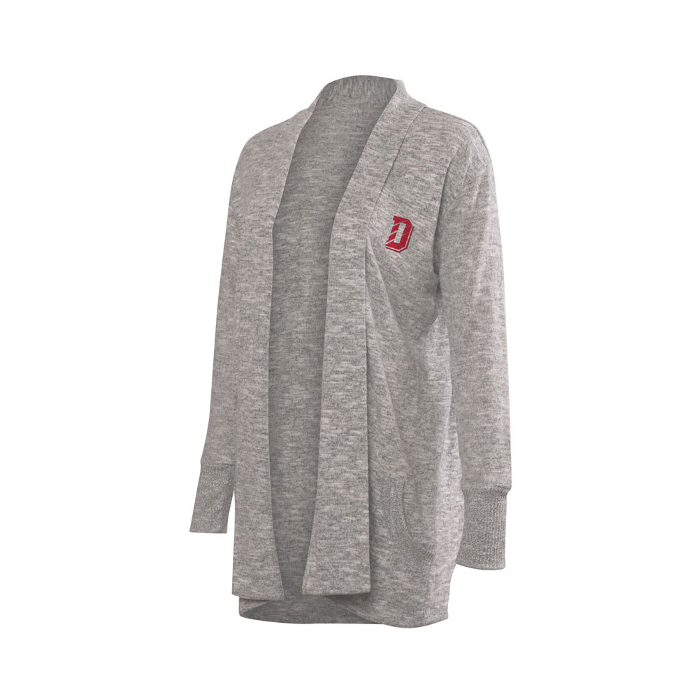 Image For Women's Cozy Cardigan - Heather Grey
