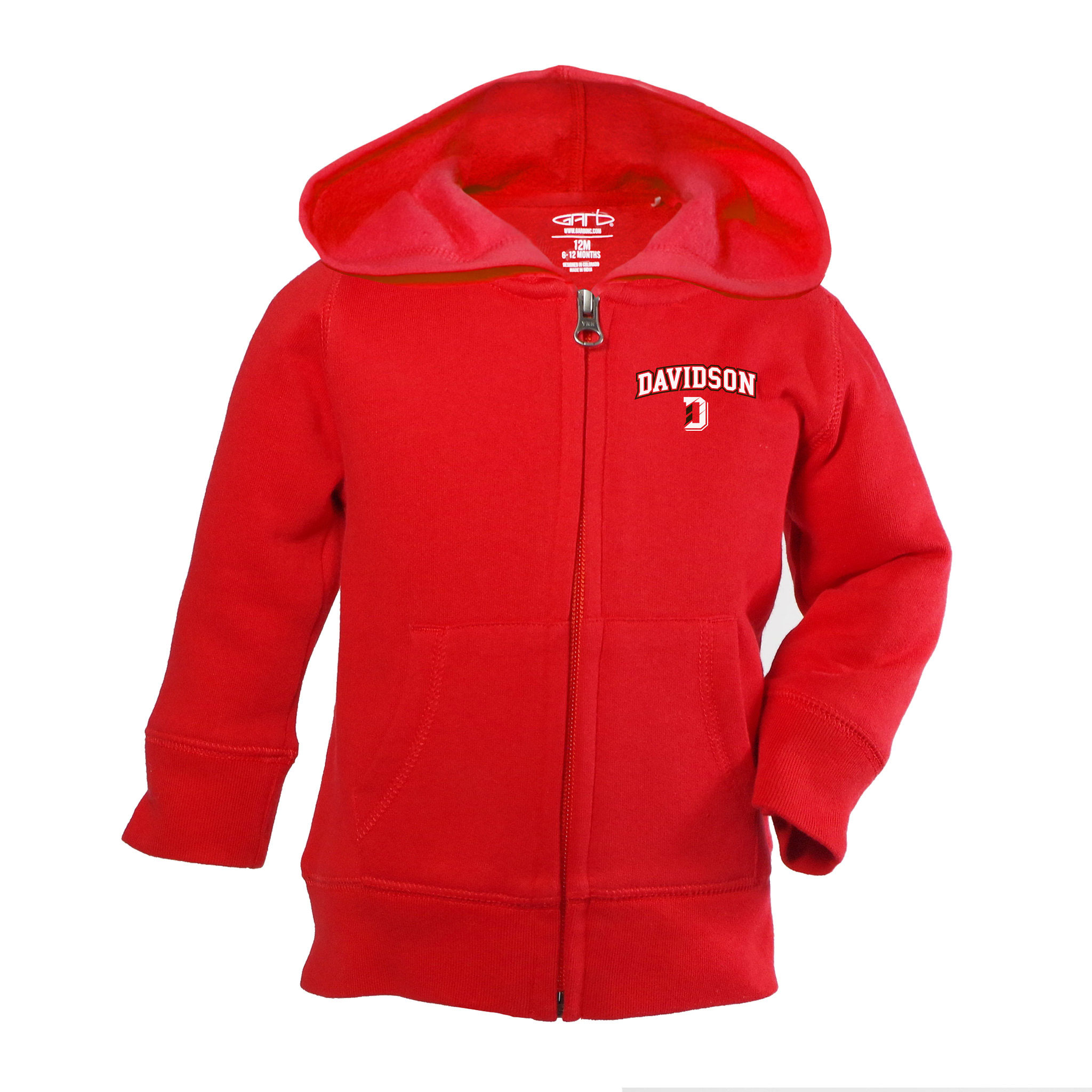 Image For Infant Full Zip Hoodie - Red