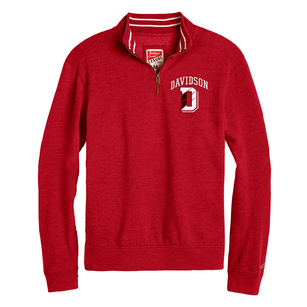 Image For Quarter Zip Tri Blend - Heather Red