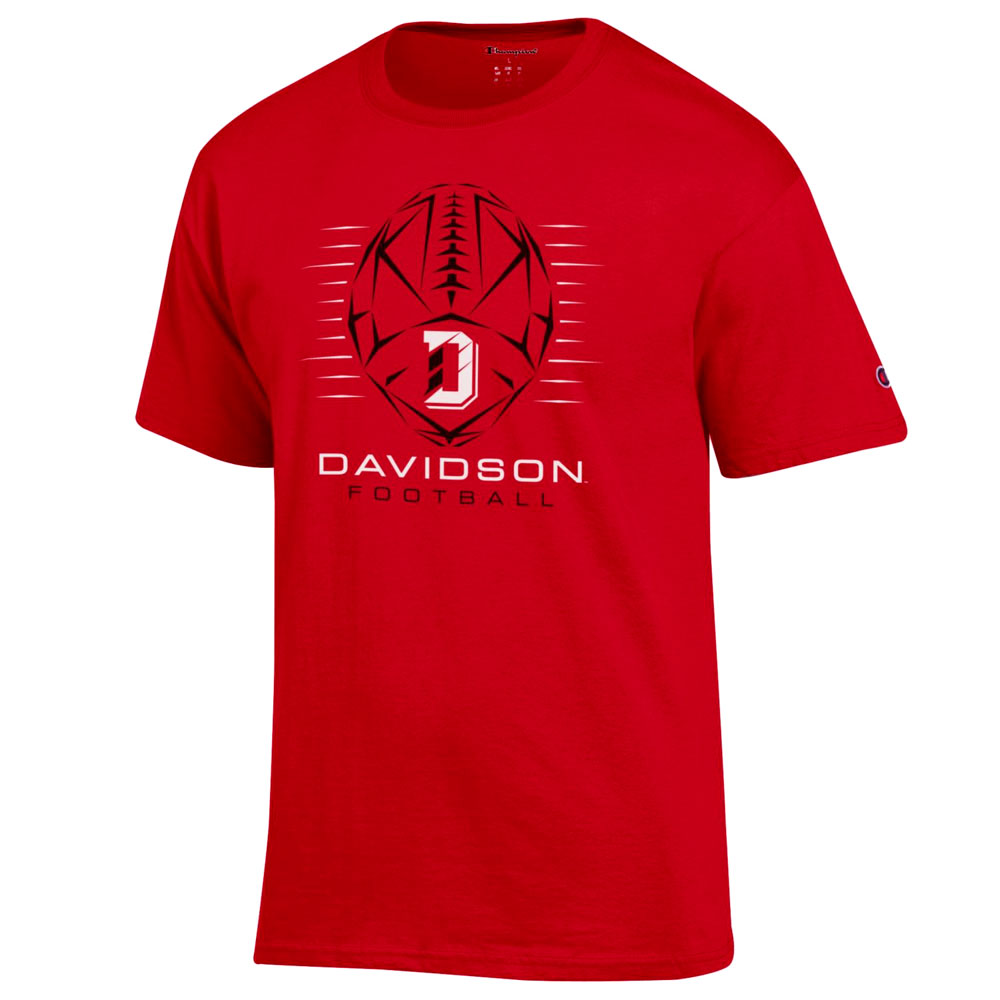 Image For T Shirt - Red - Davidson Football