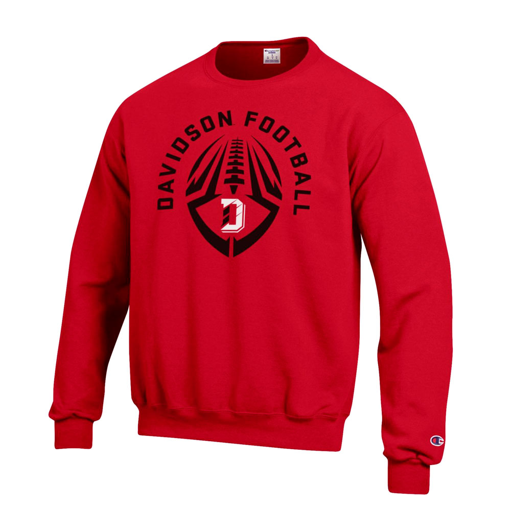 Image For SweatShirt - Crew - Red- Davidson Football