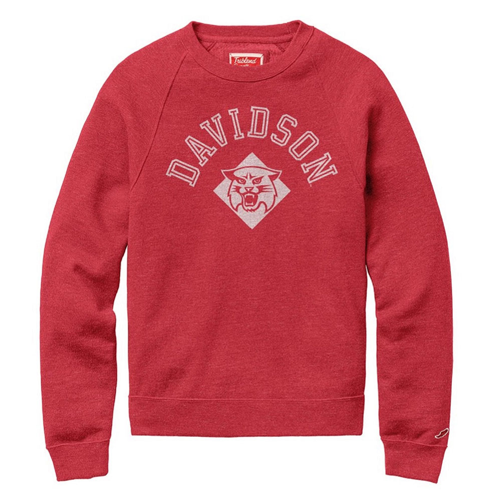 Image For Sweatshirt - Tri-blend crew - Heather Red