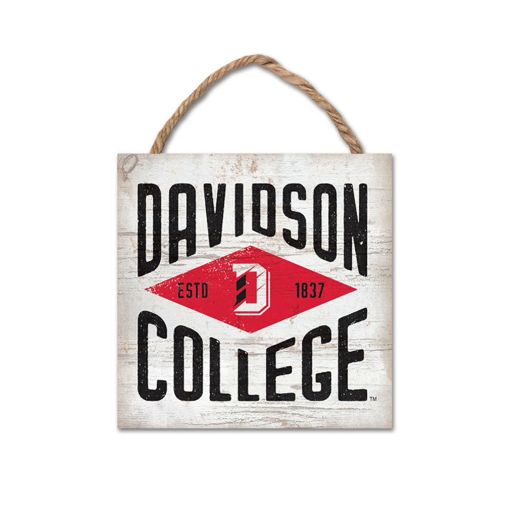 Image For Wood Plank Hanging Square - Davidson College
