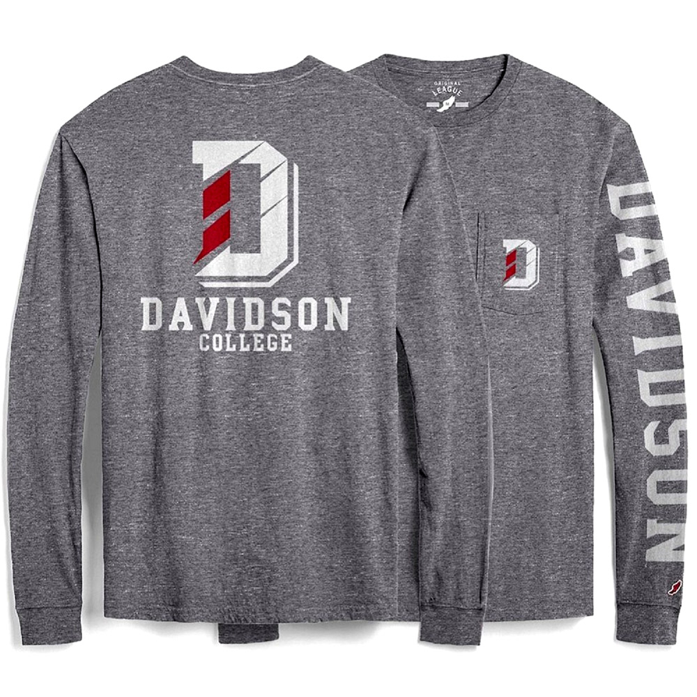 Image For T Shirt Long Sleeve With Pocket -Grey- D Logo