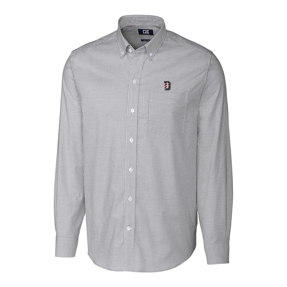 Image For Long Sleeve Stretch Shirt - Oxford - D Logo