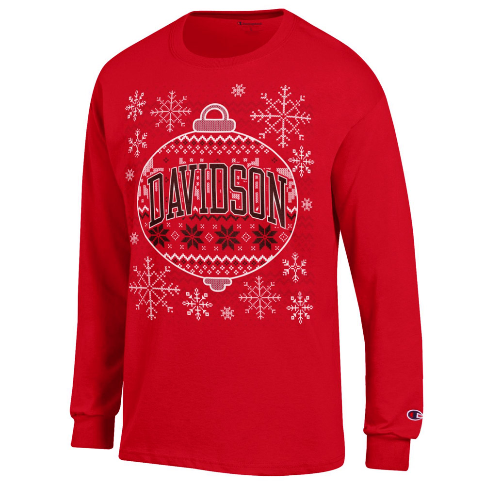 Cover Image For T Shirt Long Sleeve - Red - Holiday