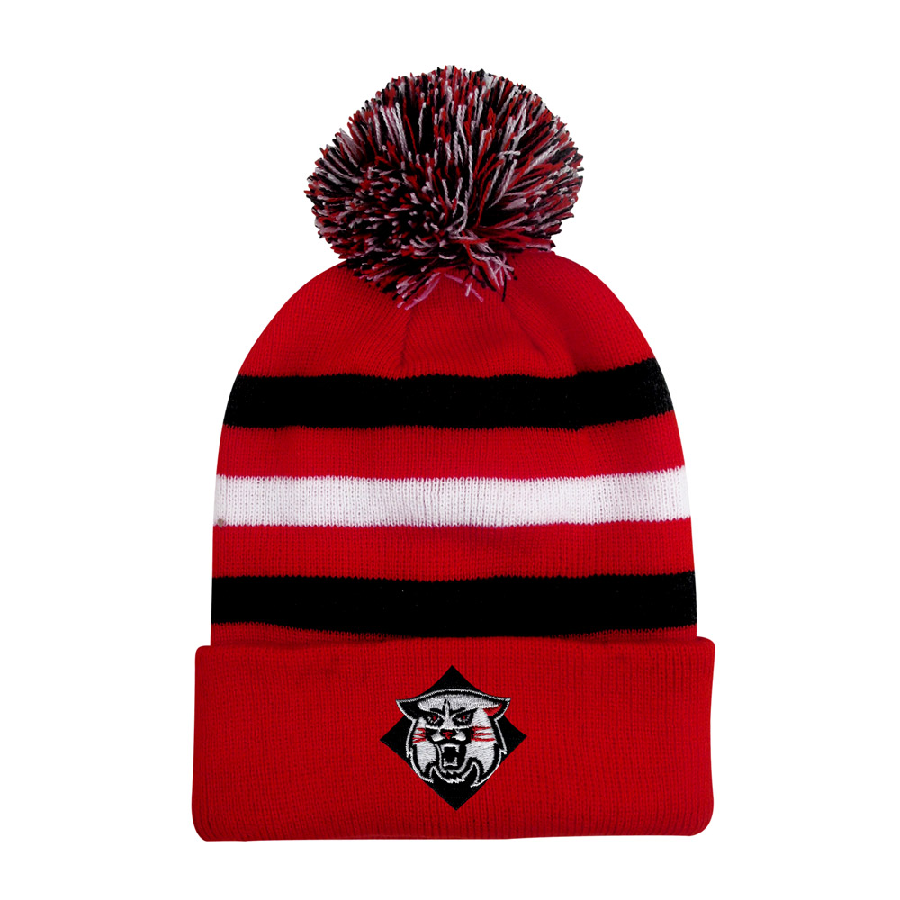 Image For Youth Knit Pom Hat - Red
