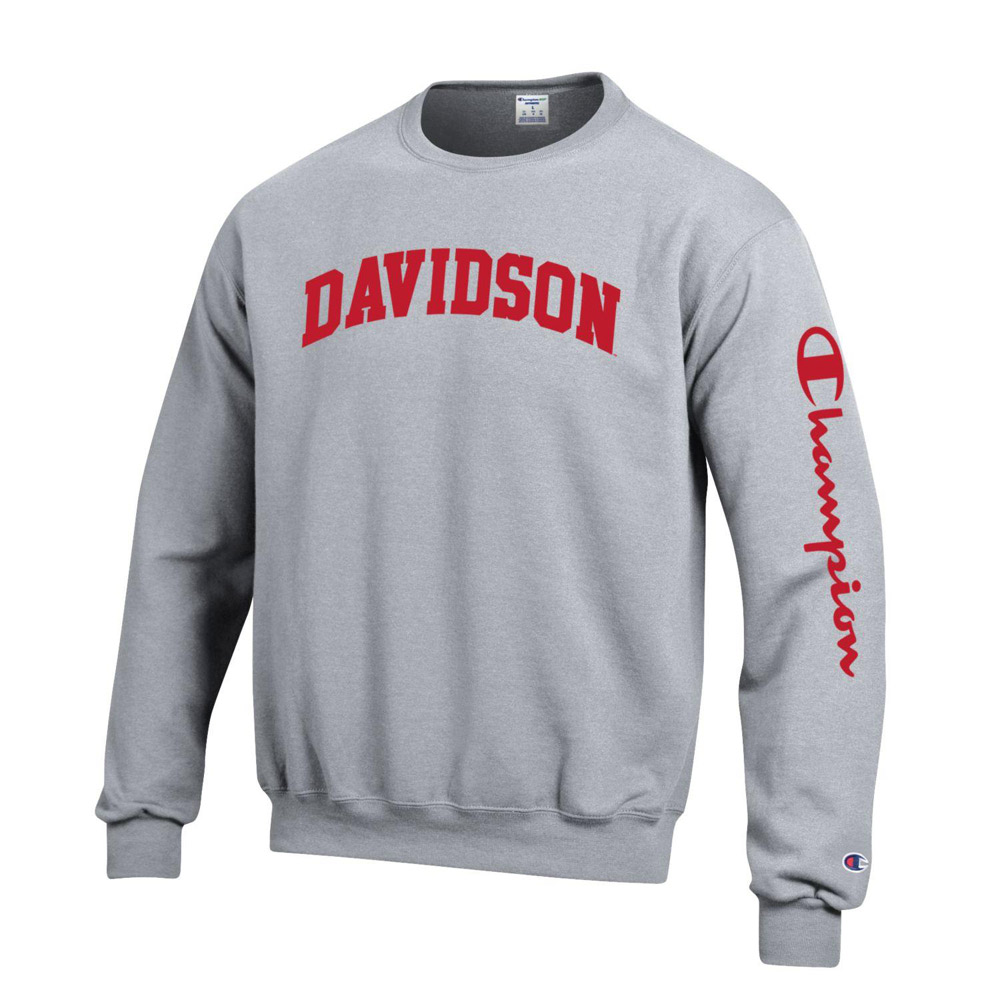 Image For Sweatshirt - Power Blend Heather Grey - Davidson Arched