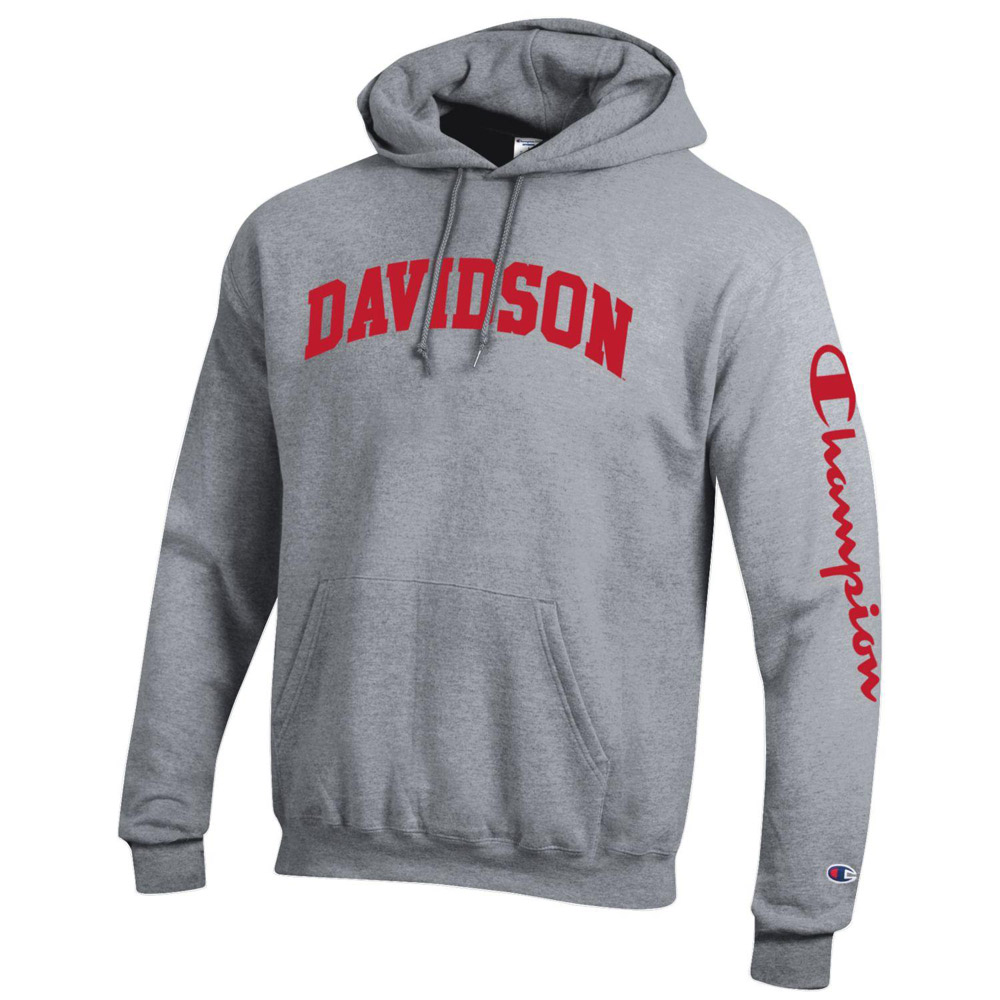 Cover Image For Sweatshirt Powerblend - Hood - Heather Grey - Davidson