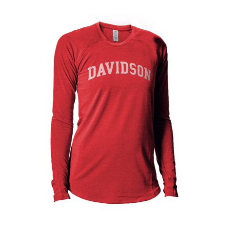 Image For WOMEN'S LONG SLEEVE TEE - RED