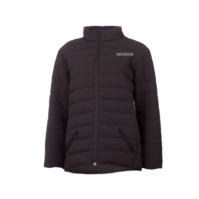 Image For Women's Puffer Jacket - Black