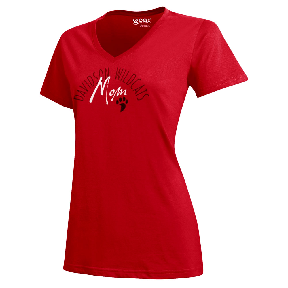 Image For Women's Davidson Mom Tee - Red