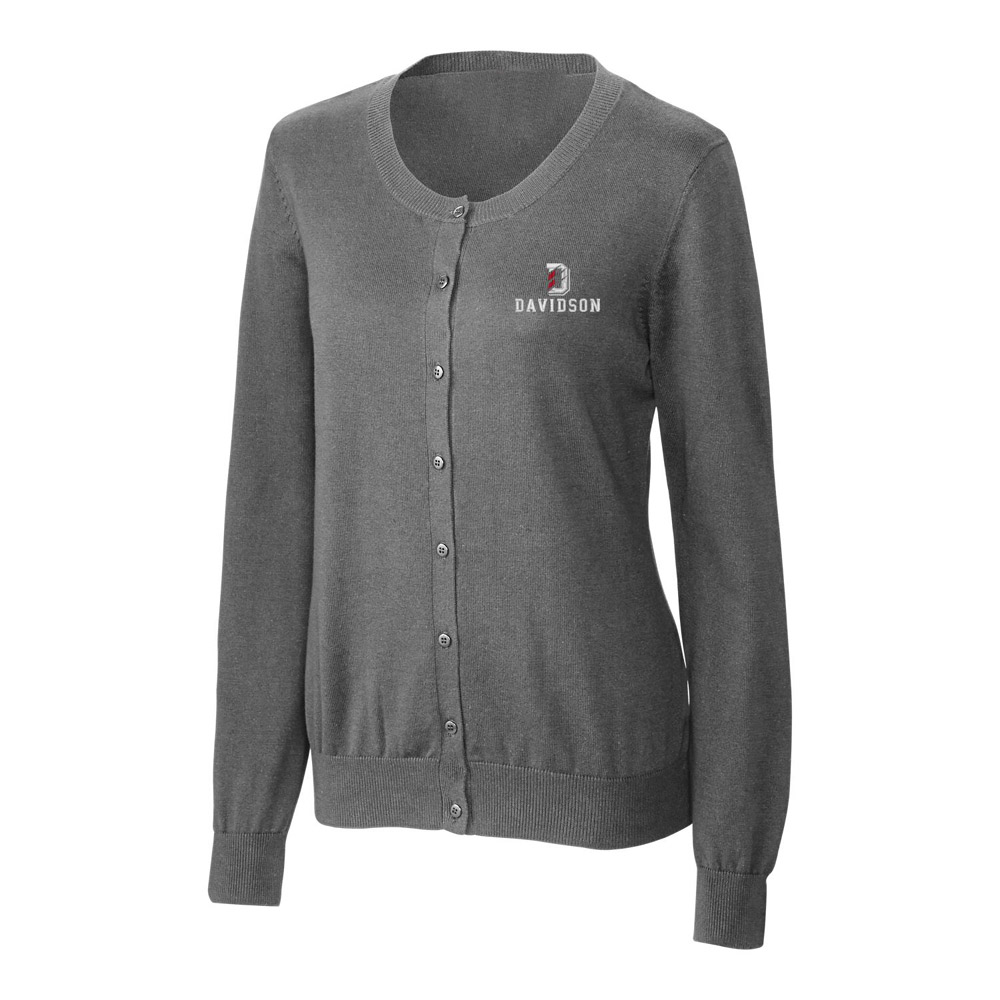 Image For Women's Cardigan Sweater - Charcoal Melange