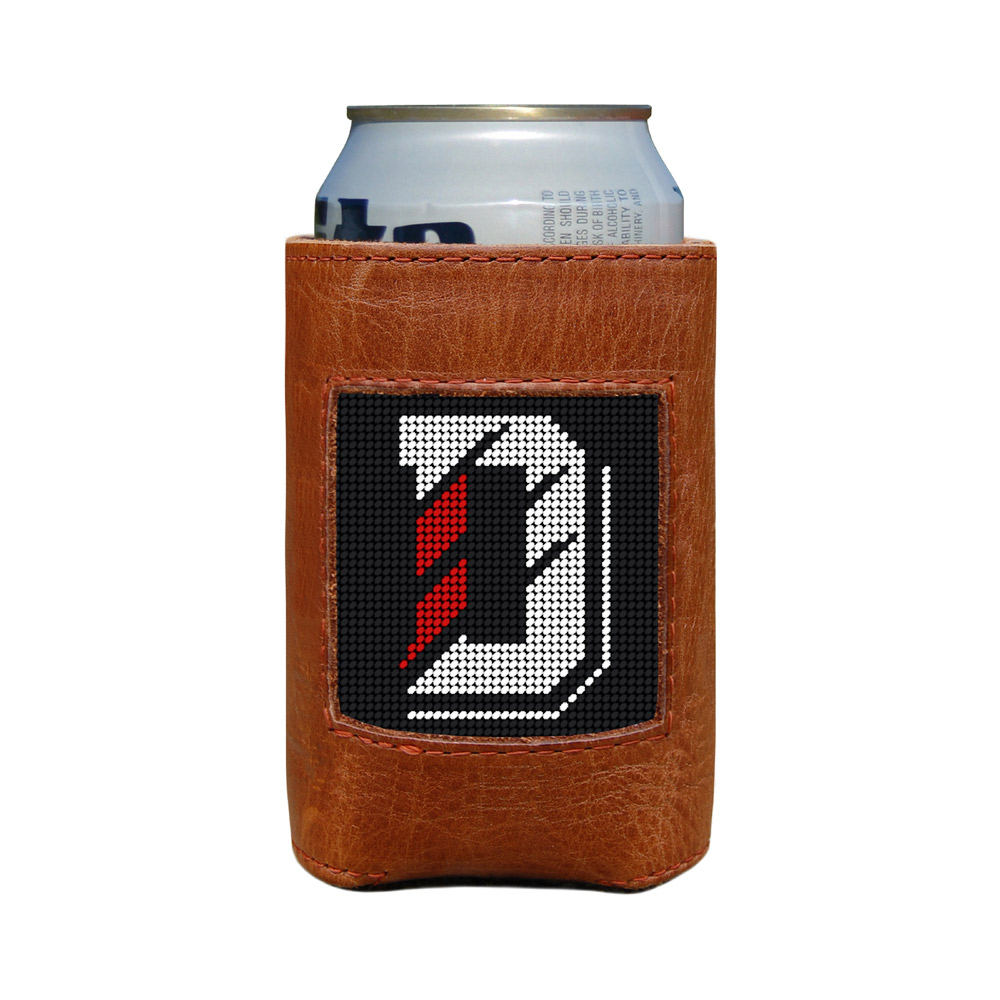 Cover Image For Needlepoint Can Cooler - D Logo