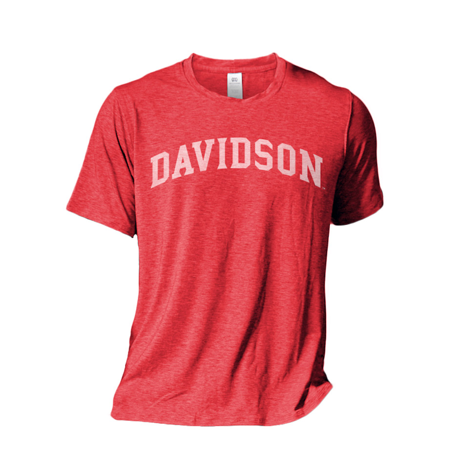 Image For T Shirt - Vintage Red - Davidson Arched