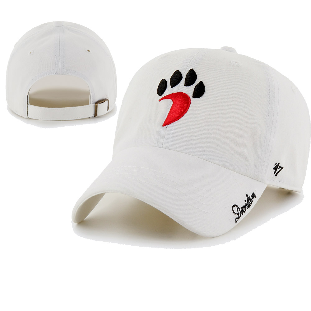 Cover Image For Women's Hat - '47 Clean Up - White - Paw Logo