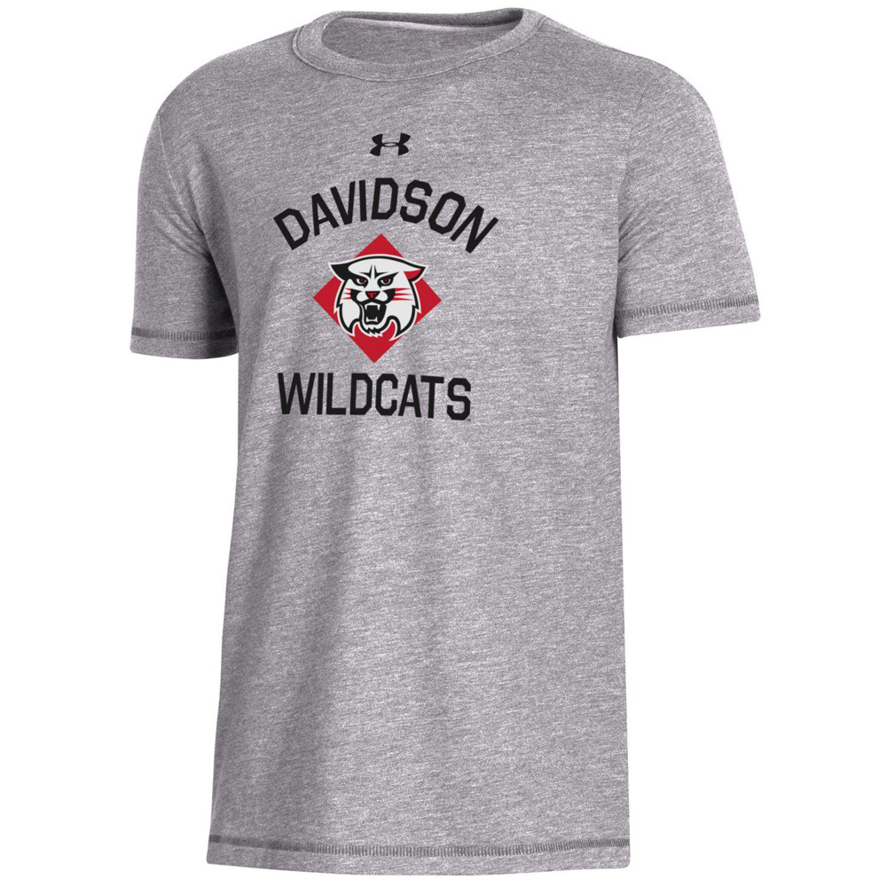 Image For Youth T Shirt - Grey Heather -  Davidson Over Wildcat