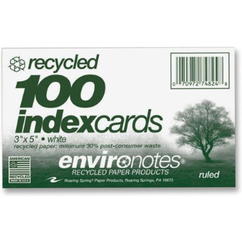 "Image For Recycled 3""x 5"" Index Cards"