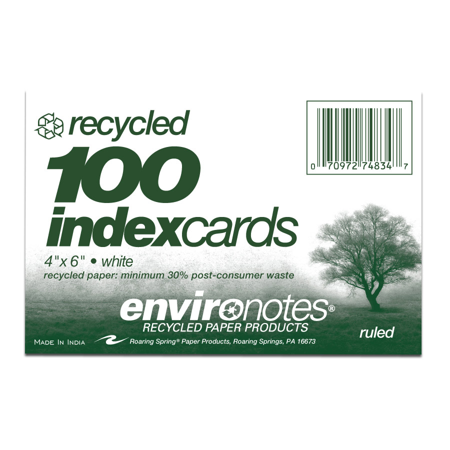"Image For Recycled 4""x 6"" Index Cards"