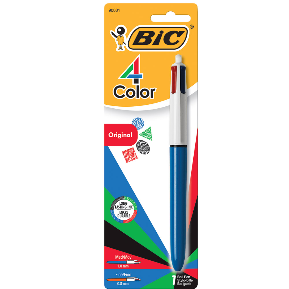 Image For BIC 4-Color Retractable Ballpoint Pen