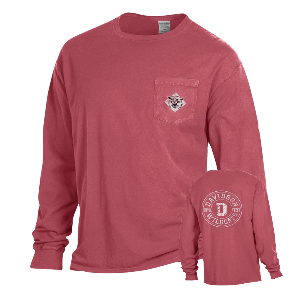 Image For LONG SLEEVE T SHIRT - COMFORT COLORS - WASHED RED