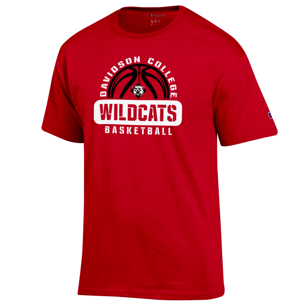 Cover Image For T Shirt - Davidson Basketball - Red