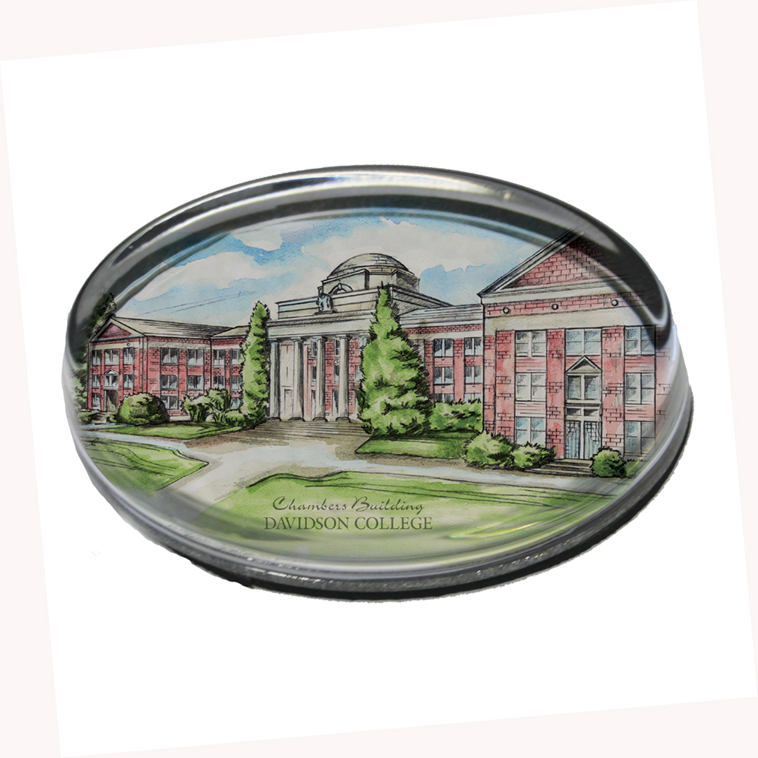 Image For Glass Paperweight With Chambers Building